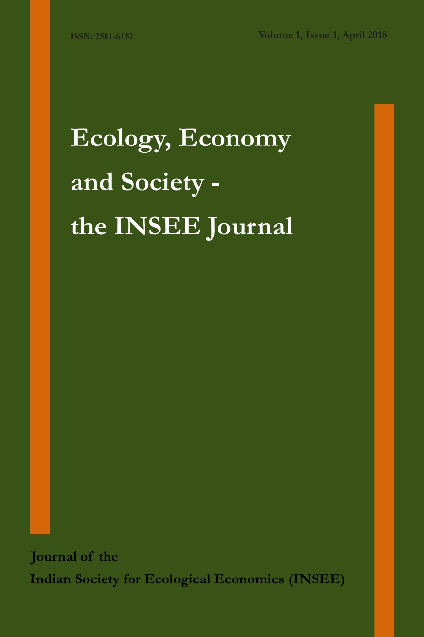 View Vol. 1 No. 1 (2018): Ecology, Economy and Society- the INSEE Journal