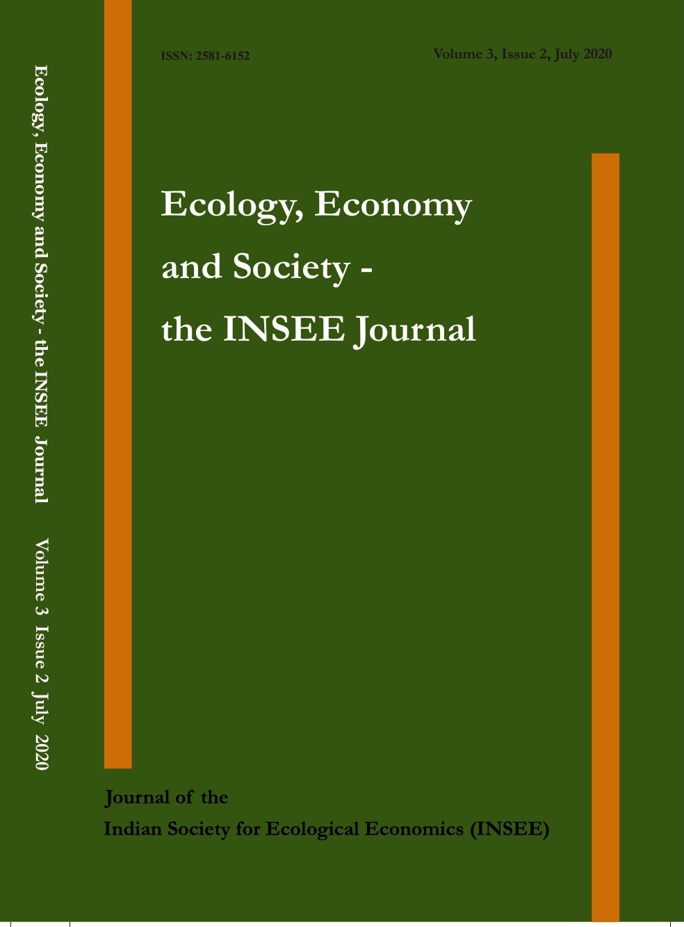 View Vol. 3 No. 2 (2020): Ecology, Economy and Society- the INSEE Journal